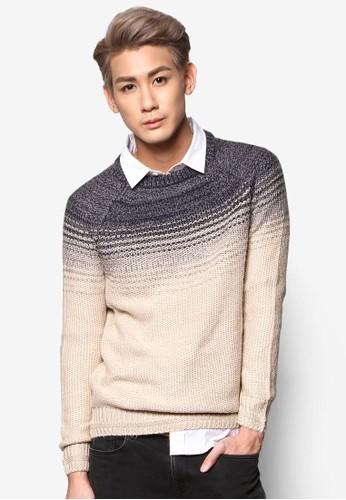 漸層色混線長袖esprit outlet 桃園織衫, 服飾, 外套
