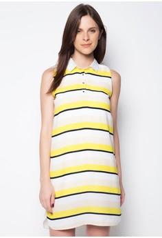 Stripes Sleeveless Shirt Dress