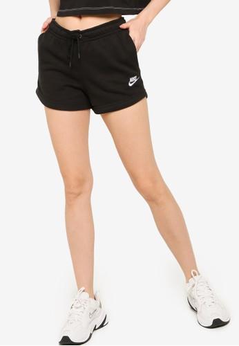 Nike black Essential Fleece Shorts C2745AA78EE555GS_1