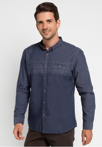 Watchout! Jeans navy Long Sleeve With Collar WA971AA0UIU3ID_1