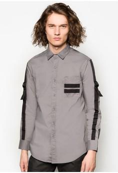 Webbing Strap Long Sleeve Shirt