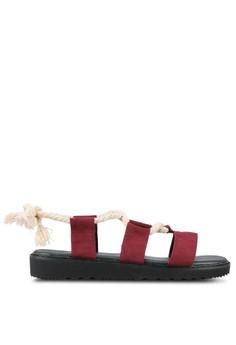 【ZALORA】 蕾絲 Up Platform Gladiator 涼鞋