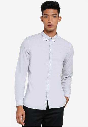 River Island grey Embroidered Shirt 456E4AABC0E5C6GS_1