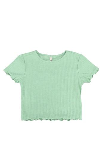ONLY green Nella Short Sleeves Cropped Tee E8E6EKAD5EECCBGS_1