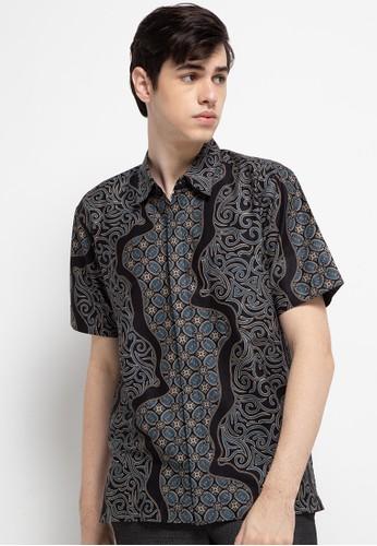 bhatara batik black and green Elric Shirt 46BCDAAF8FD48DGS_1