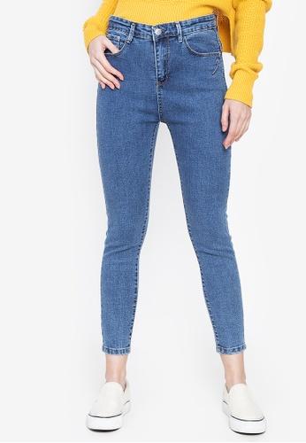 Balaynor blue High Waist Acid Wash Denim Jeans 36D78AAB4F8FFFGS_1