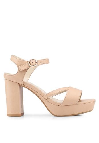 ZALORA beige Platformed Sandal Heels With Ankle Strap 21667SH180839AGS_1
