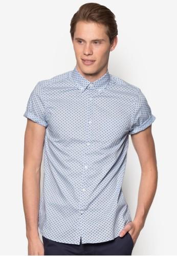 印花短袖襯衫、 服飾、 服飾BurtonMenswearLondon印花短袖襯衫最新折價