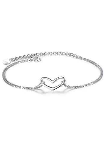 SUNRAIS silver High quality Silver S925 silver heart-shaped bracelet FBBEDACADA8FF3GS_1