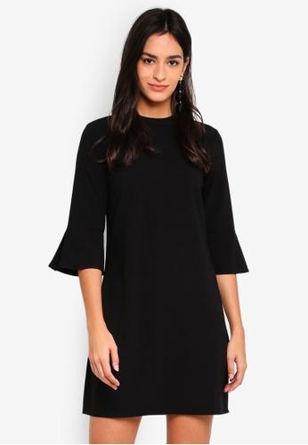 ZALORA black Flare Sleeves Dress B8C74AAA3C7896GS_1
