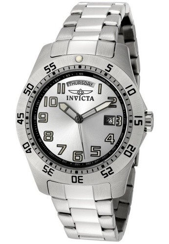 INVICTA silver Invicta Specialty Men 44mm Case Silver Stainless Steel Strap Silver Dial Quartz Watch 5249 IN968AC0F5BOSG_1