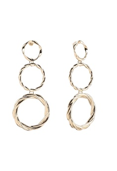 f8501db19ea7 River Island gold Mix Textured Triple Ring Drop Earrings BB0CFAC2F1A80FGS_1