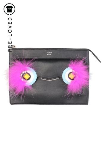 Fendi black Pre-Loved fendi Black Monster Bag Bugs Clutch 4CC87AC6CE3C17GS_1