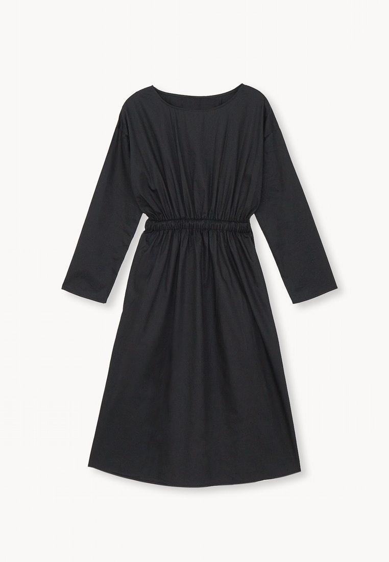 Black The Knee Elastic Black Dress Over Pomelo Waist Pgww0q1