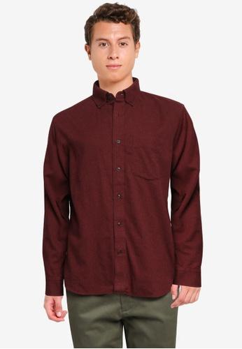 Banana Republic red Untucked Standard-Fit Flannel Shirt E80E3AA207B73EGS_1