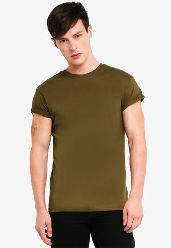Topman 綠色 短袖T恤 0C7FBAA769B6B0GS_1