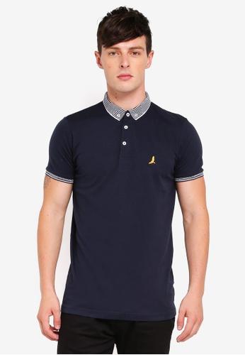 Brave Soul navy Jersey Polo Shirt 23DE7AAABDBE47GS_1