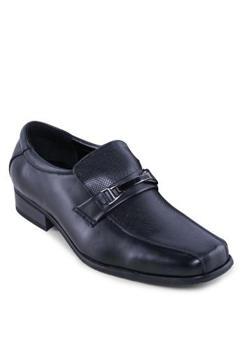 金飾壓紋方頭esprit台灣門市仿皮鞋, 鞋, 皮鞋