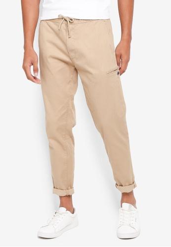 ESPRIT beige Textured Pants 67C65AAEE9186AGS_1