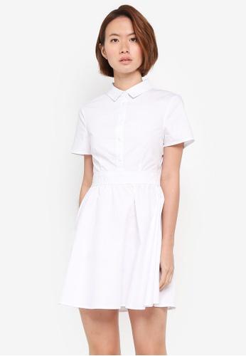 ZALORA white Fit & Flare Shirt Dress DB361AAA88A0DEGS_1