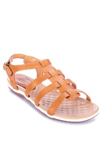 Alberto brown Strappy Comfort Flat Sandals 8B533SH8442134GS_1