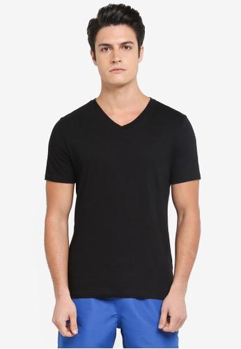 Topman black Slim V-Neck T-Shirt 7A509AA1876710GS_1