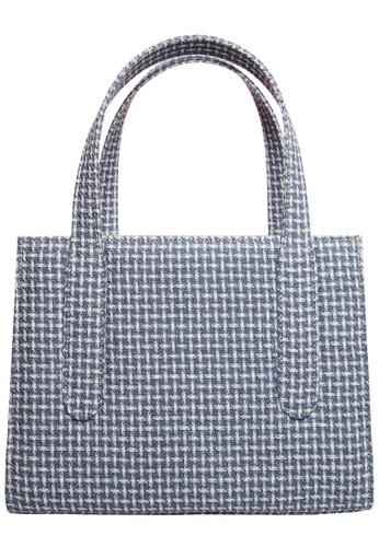 72 SMALLDIVE blue 72 Smalldive Womens Eco Wool & Cotton Fabric Tote Bag in Blue B3642ACF92A8A7GS_1