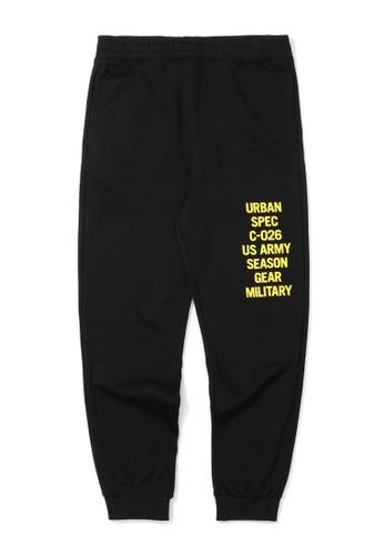 :CHOCOOLATE black Slogan print sweatpants 0978EAAD695A66GS_1