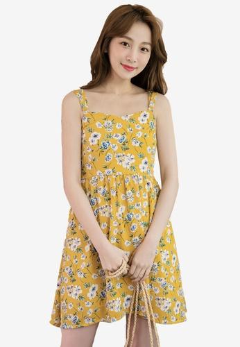 Eyescream yellow Floral Sundress C2178AAB89BA78GS_1