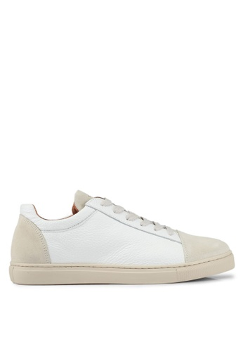 Selected Homme white Shndavid Cap Sneaker 8AE5BSH85953A8GS_1
