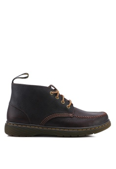 985dd3214b2674 Dr. Martens brown Holt 4 Eye Boots 84673SH25591E3GS 1