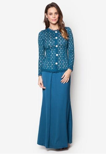 VERCATO green and blue Baju Kurung Lace - Vercato Mia VE999AA75AOQMY_1