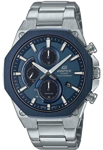 CASIO silver Casio Edifice Slim Line EFS-S570DB-2AUDF Blue and Silver Stainless Steel Watch C4A62ACDBAF176GS_1