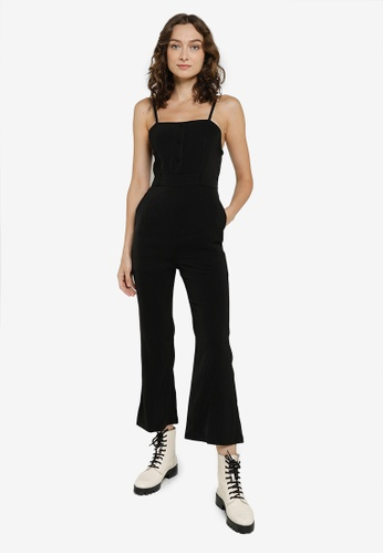 Heather black Belted Long Jumpsuit 7BE51AA738D4F5GS_1