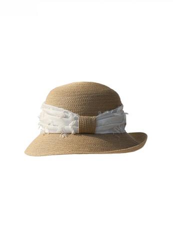Twenty Eight Shoes Fabric Strap Details Sunshade Straw Hat JW LL-SW309078 1F1BDAC9B787D8GS_1
