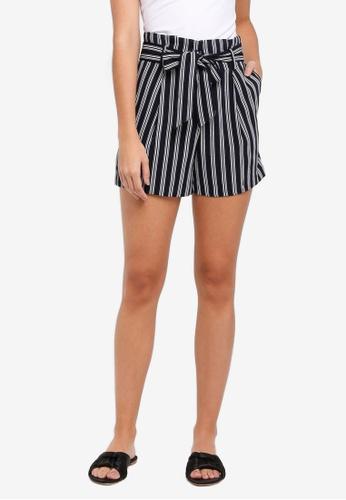 WAREHOUSE black Stripe Shorts 102D8AA3772C5EGS_1