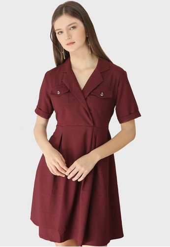 Urban Exchange red Urban Exchange Jossie Dress Maroon 928ECAAC91E06AGS_1