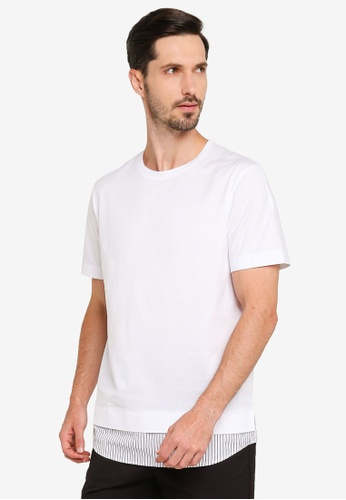 URBAN REVIVO white Combined T-Shirt 45808AAF67AA97GS_1