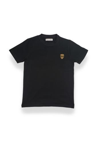Dolce Zen black Aryan Arjun Men's Crew Neck Egyptian Cotton Regular Fit Short Sleeve Plain Black T-Shirt 6EBD4AA7102F40GS_1