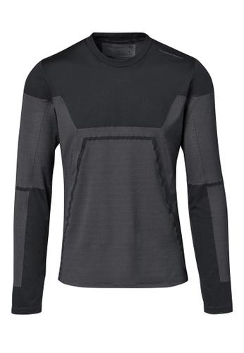 Porsche Design black PUMA x Porsche Design Men's Black Active Tee Evo Long Sleeve T-Shirt 9402DAAA93E5D4GS_1