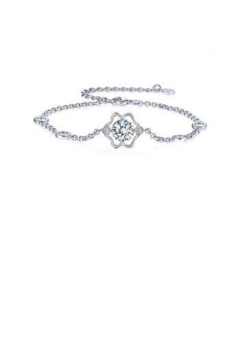 Glamorousky white 925 Sterling Silver Twelve Horoscope Gemini Bracelet with White Cubic Zircon C06FCACDCF7C9FGS_1