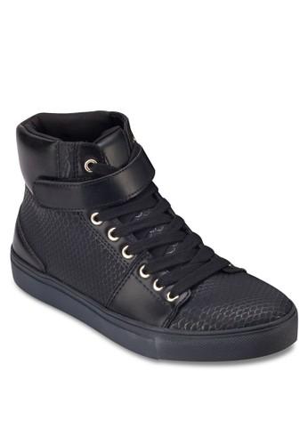 蛇紋繫帶zalora 心得高筒運動鞋, 女鞋, 休閒鞋