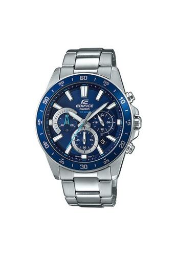 Casio silver CASIO EDIFICE EFV-570D-2AVUDF MEN'S WATCH 31579AC5FF2C1EGS_1