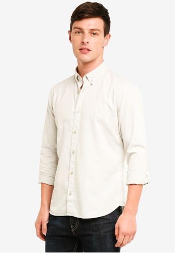 ESPRIT 灰色 長袖襯衫 21C9EAA194A600GS_1