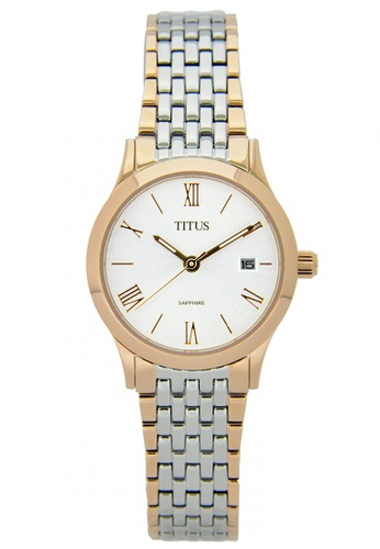 Solvil et Titus silver and gold Classicist Women's Analogue Quartz Watch in White-Silver Dial and Stainless Steel Metal Bracelet B8587ACFB97590GS_1