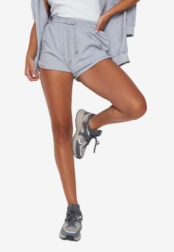 MISSGUIDED grey Tie Waist Runner Shorts B5E6AAAA4A34C2GS_1