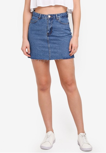 Supre blue The Blair Aline Denim Skirt 527DDAAC34D8A4GS_1