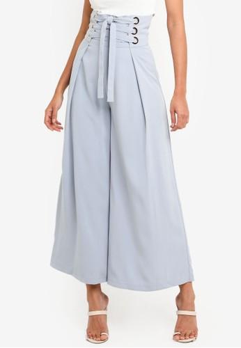 Megane blue Red Romance Veronique High Waist Pants C52E1AA6D5C2B6GS_1