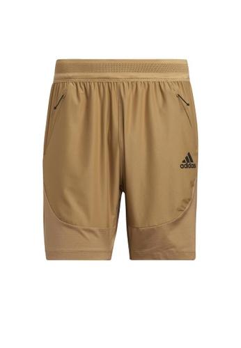 ADIDAS brown adidas HEAT.RDY Training Shorts 4650FAA083B2C2GS_1