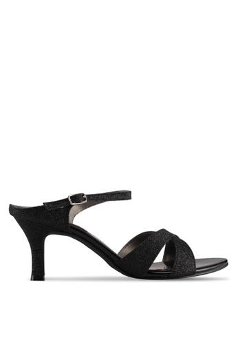 Spiffy black Elegant Low Heel Slip-On Ladies Dinner Heels B2F58SH007D67AGS_1